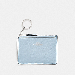 COACH F11836 - MINI SKINNY ID CASE SILVER/PALE BLUE