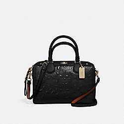 MINI BENNETT SATCHEL - f11920 - LIGHT GOLD/BLACK