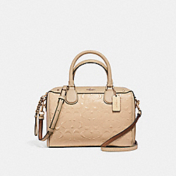 MINI BENNETT SATCHEL - f11920 - LIGHT GOLD/PLATINUM