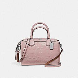 MINI BENNETT SATCHEL - f11920 - SILVER/BLUSH 2