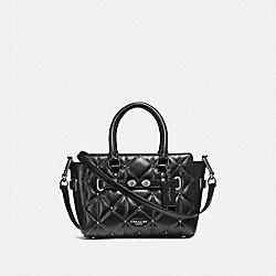 MINI BLAKE CARRYALL WITH QUILTING - f11922 - ANTIQUE NICKEL/BLACK