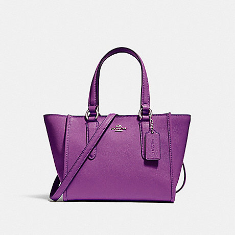 COACH f11925 CROSBY CARRYALL 21 SILVER/BERRY