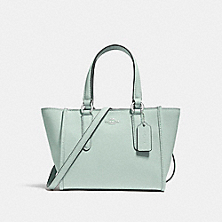 COACH F11925 - CROSBY CARRYALL 21 SILVER/SEA GREEN