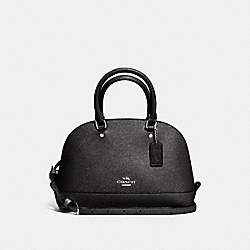 MINI SIERRA SATCHEL - f11927 - SILVER/BLACK