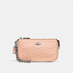 COACH F11940 Large Wristlet 19 SILVER/LIGHT PINK