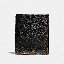 SLIM COIN WALLET IN BUFFALO EMBOSSED LEATHER - f11989 - BLACK