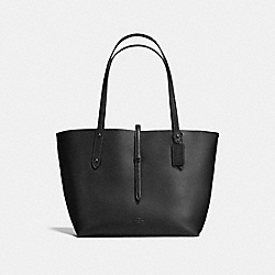 MARKET TOTE WITH STARLIGHT PRINT - f12051 - MATTE BLACK/BLACK