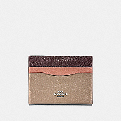 COACH F12070 - CARD CASE IN COLORBLOCK SV/STONE/MELON MULTI