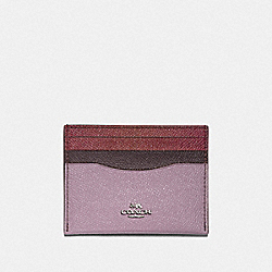 COACH F12070 Card Case In Colorblock SV/JASMINE MULTI