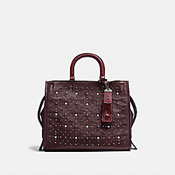 COACH F12164 - ROGUE WITH PRAIRIE RIVETS OXBLOOD/BLACK COPPER