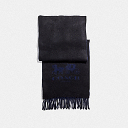 COACH F12166 - SIGNATURE CASHMERE SCARF BLACK/MIDNIGHT