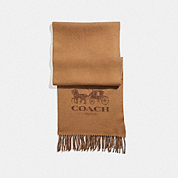 COACH F12166 - SIGNATURE CASHMERE SCARF CAMEL/SADDLE