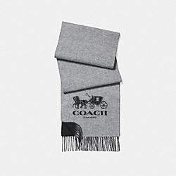 COACH F12166 - SIGNATURE CASHMERE SCARF CHARCOAL/GREY