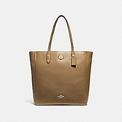 COACH F12184 - TOWN TOTE LIGHT SADDLE/LIGHT GOLD