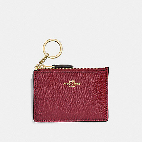 COACH F12186 MINI SKINNY ID CASE CHERRY-/LIGHT-GOLD