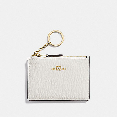 COACH F12186 MINI SKINNY ID CASE CHALK/LIGHT-GOLD