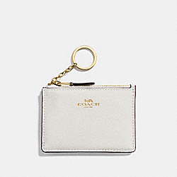 COACH F12186 - MINI SKINNY ID CASE CHALK/LIGHT GOLD