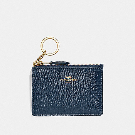 COACH F12186 MINI SKINNY ID CASE DENIM/LIGHT-GOLD
