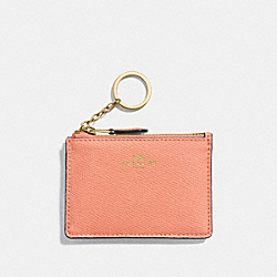 COACH F12186 Mini Skinny Id Case SUNRISE/LIGHT GOLD