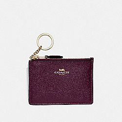 COACH F12186 Mini Skinny Id Case OXBLOOD 1/LIGHT GOLD