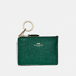 COACH F12186 - MINI SKINNY ID CASE DARK TURQUOISE/LIGHT GOLD
