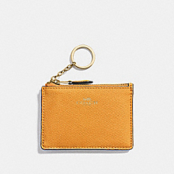 COACH F12186 - MINI SKINNY ID CASE GOLDENROD/LIGHT GOLD