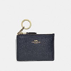 COACH F12186 - MINI SKINNY ID CASE MIDNIGHT/GOLD