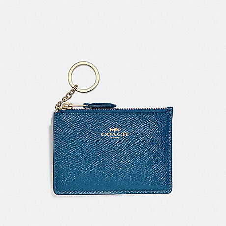COACH F12186 MINI SKINNY ID CASE INK-BLUE/LIGHT-GOLD