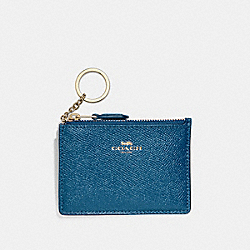 COACH F12186 Mini Skinny Id Case INK BLUE/LIGHT GOLD