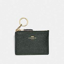 COACH F12186 Mini Skinny Id Case IVY/IMITATION GOLD