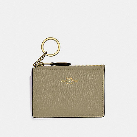 COACH F12186 MINI SKINNY ID CASE LIGHT-CLOVER/IMITATION-GOLD