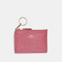 COACH F12186 Mini Skinny Id Case LIGHT GOLD/ROUGE