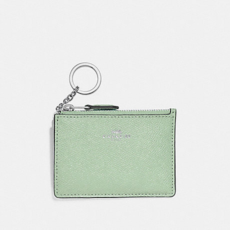 COACH F12186 MINI SKINNY ID CASE PALE-GREEN/SILVER