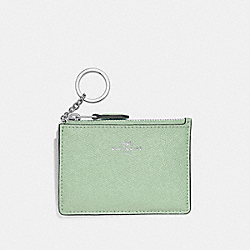 COACH F12186 Mini Skinny Id Case PALE GREEN/SILVER
