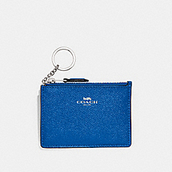 COACH F12186 - MINI SKINNY ID CASE ATLANTIC/SILVER