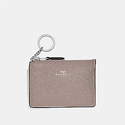 COACH F12186 Mini Skinny Id Case GREY BIRCH/SILVER