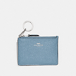 MINI SKINNY ID CASE - F12186 - CORNFLOWER/SILVER
