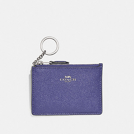 COACH F12186 MINI SKINNY ID CASE LIGHT-PURPLE/SILVER