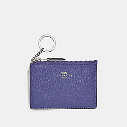COACH F12186 Mini Skinny Id Case LIGHT PURPLE/SILVER