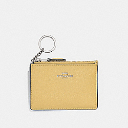 MINI SKINNY ID CASE - F12186 - LIGHT YELLOW/SILVER