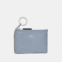 COACH F12186 Mini Skinny Id Case STEEL BLUE