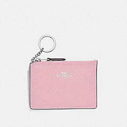 COACH F12186 Mini Skinny Id Case CARNATION/SILVER