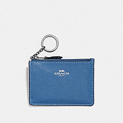 COACH F12186 - MINI SKINNY ID CASE SKY BLUE/SILVER