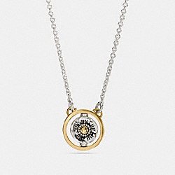DEMI-FINE SPINNING TEA ROSE SIGNATURE NECKLACE - f12591 - GOLD