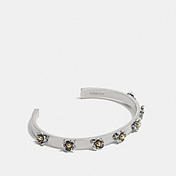 COACH F12756 - TEA ROSE OPEN CUFF SILVER