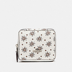 COACH F12995 Jewelry Box In Forest Bud Print Coated Canvas SILVER/CHALK MULTI