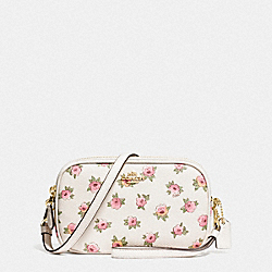 COACH F13316 - SADIE CROSSBODY CLUTCH WITH FLOWER PATCH PRINT LI/FLOWER PATCH
