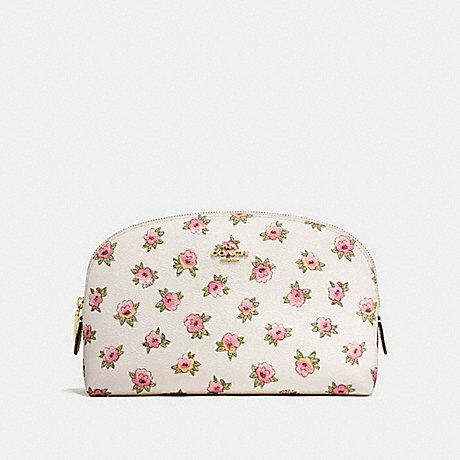 COACH F13317 COSMETIC CASE 22 WITH FLOWER PATCH PRINT LI/FLOWER-PATCH