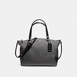 MINI KELSEY SATCHEL IN LEGACY JACQUARD - f13524 - SILVER/GREY/BLACK