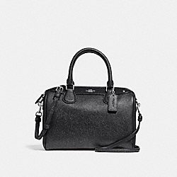 MINI BENNETT SATCHEL - f13681 - SILVER/BLACK